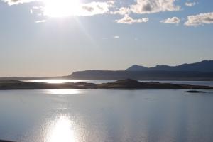 Sonnenuntergang Island